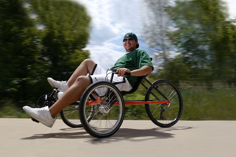 Bikes To You Recumbent Trikes Man Riding a Rover